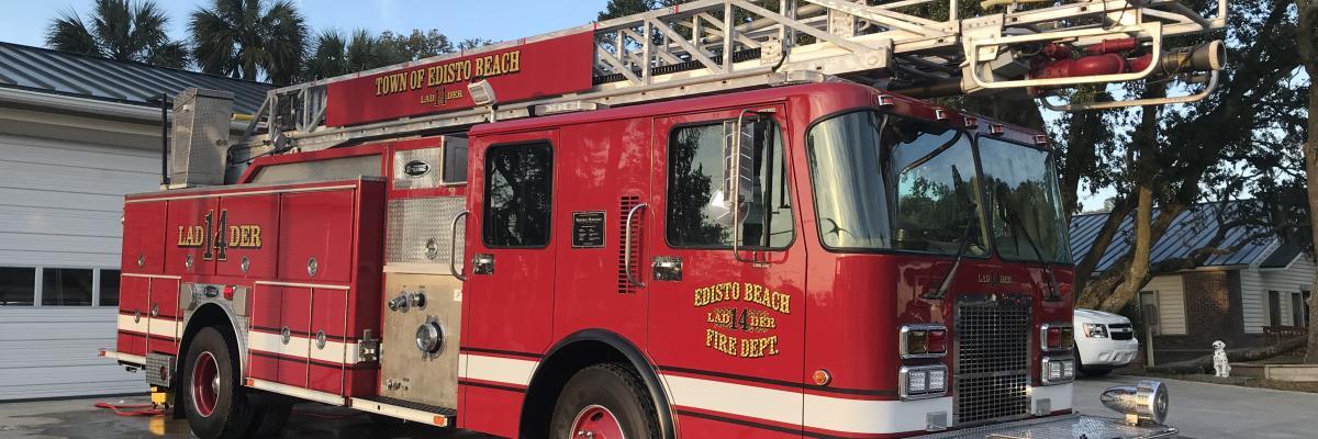 Newly refurbished E-ONE Ladder Truck