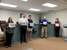 Starfish Awards received at Town Council meeting on July 8, 2021