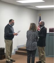 Swearing in of Councilman Renner